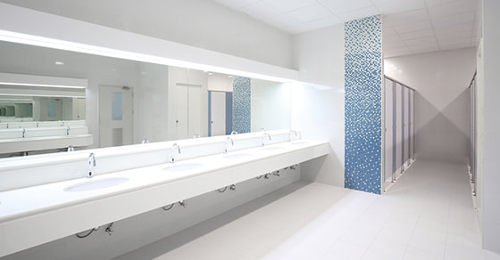 glass office bathrooms toilets design