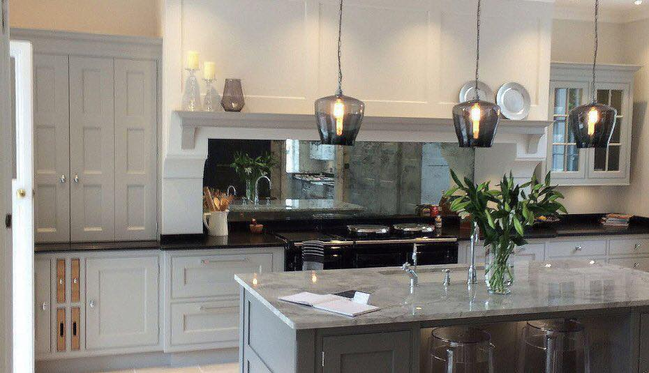 Another happy customer. Old silver leaf #kitchen #splashback installed and fitted -- in Clonmel.